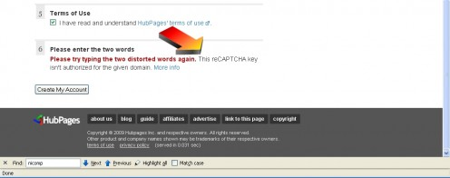 The reCaptcha technology was not functioning properly on the New Account page at shophq04.info.