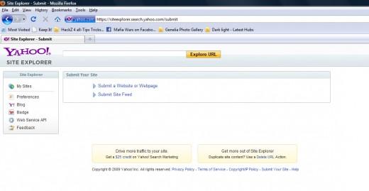 How do I submit a webpage to yahoo? | Yahoo Answers