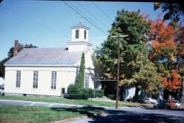 Church in New England Village