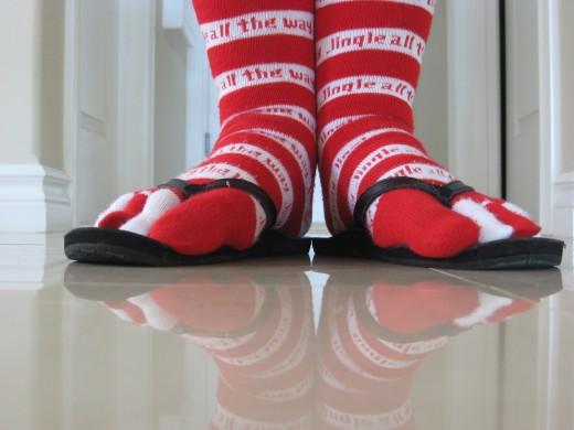 socks in your slippahs
