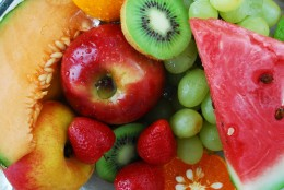 EAT FRESH FRUIT INSTEAD OF SNACKING ON COOKIES, GOOD SOURCE OF DIETARY FIBRE.