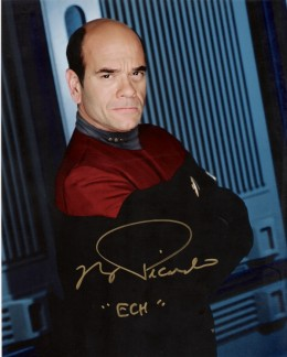"Robert Picardo as ""The Doctor"". Inscribed with ECH, by Picardo"