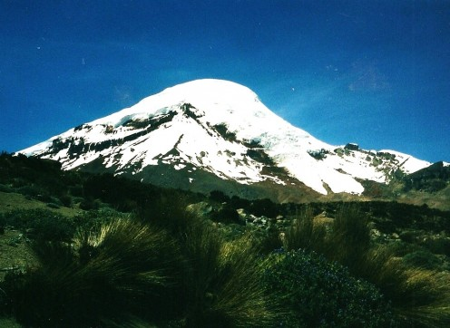 Chimborazo is one of the highest mountains in the Andean Range
