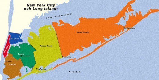 Long Island.  Source:  Wikimedia Commons under GNU Free Documentation License