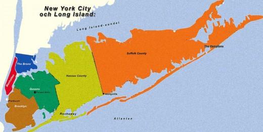 Long Island.  Source:  Wikimedia Commons under GNU Free Documentation License