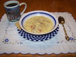 Fried Potato Clam Chowder and Chicken Crockpot Soup Recipe.