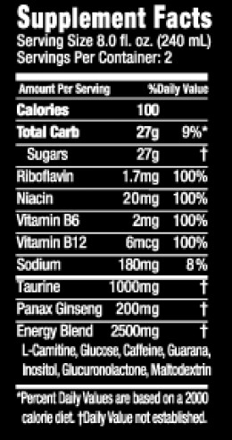 Monster energy ingredients
