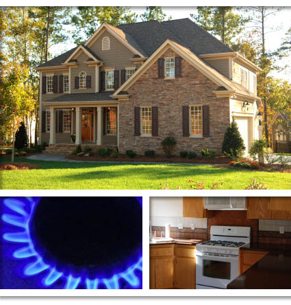 Natural gas heated house