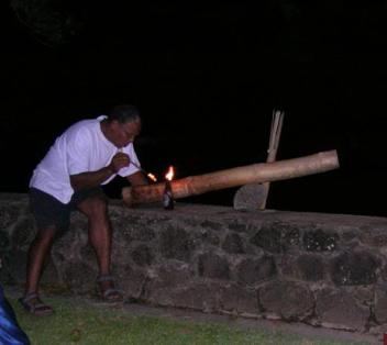Fana pitu - bamboo cannons