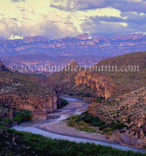 There are amazing photography compositions in the park.  This image includes the Rio Grande River and the Sierra del Carmen, located in Mexico.