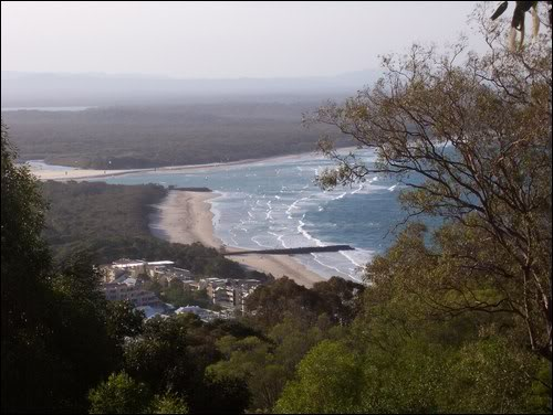 Looking down on Noosa Beach.