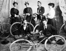 The bicycle club was rather an elite group then.