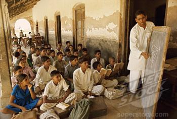 School Kids sitting on Floor