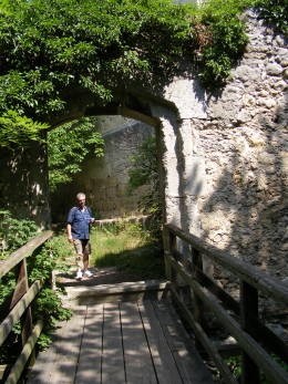 Bridging the Gap (Old 14th Century Castle ruins Baden Austria 2008)