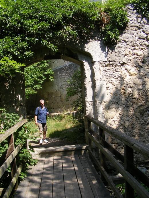 Bridging the Gap (Old 14th Century Castle ruins Baden Austria 2008)