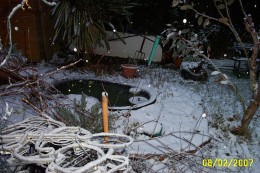 When a pond freezes it could split!!