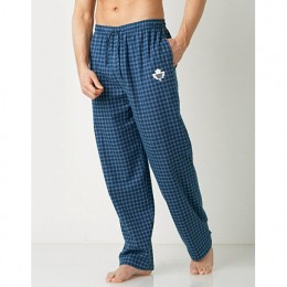 Sports pajama bottoms don't have to be garish. He can support his team and look good!