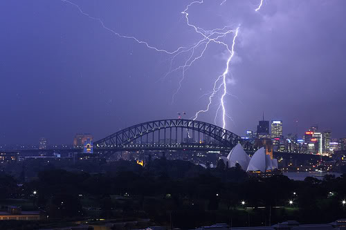 A summer thunder storm can be intense in Sydney and very enjoyable to watch.