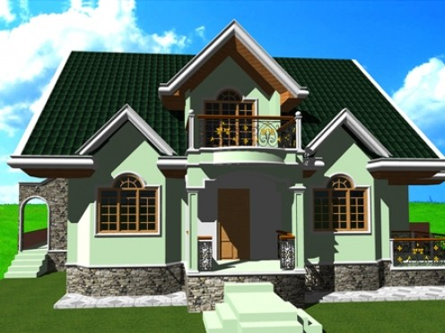 3d Residential Rendered by Autocad
