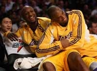 Lamar Odom and Kobe Bryant