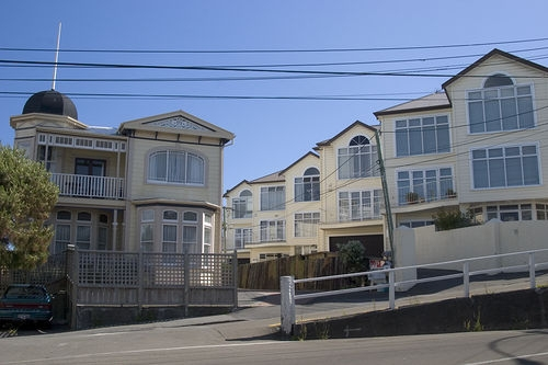 1880's Villa on the right, 1980's Townhouses to the left, Wellington Photo: jaredkelly