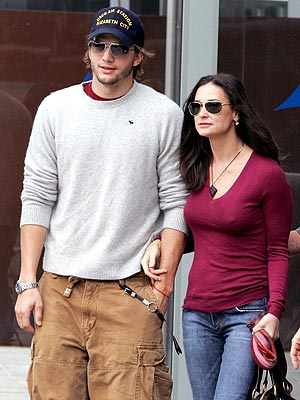 Ashton Kutcher and Demi Moore, Hollywood couple and artists