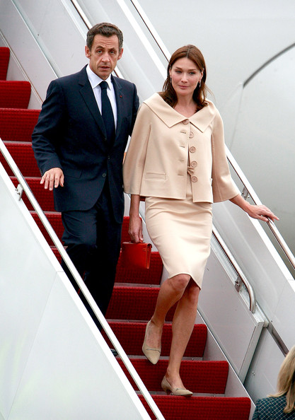 France President Nicolas Sarkozy and wife Carla Bruni-