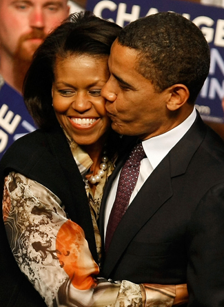 Barack Obama Pres. of USA and his wife Michelle Obama