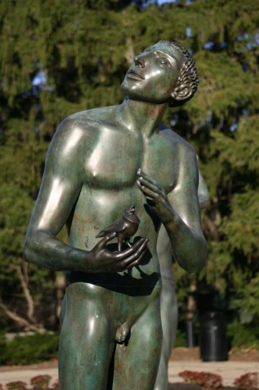 Carl Milles, Orpheus Fountain, Cranbrook,   deedsphoto