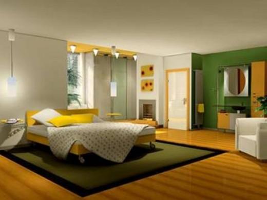 Стены нейтральных тонов: светло-желтый, оттенки теплого бежевого.