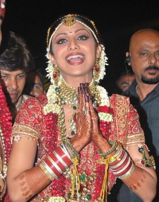 Shilpa Shetty - Wedding Jewelry Nov 22 2009 - Married with Raj Kundra