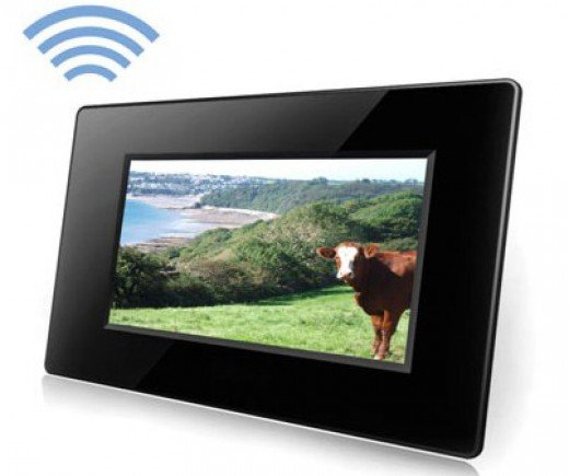 Many digital picture frames have sound recording capabilities to record short phrases.