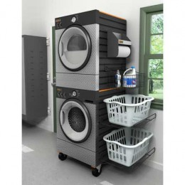 Stacking your washer dryers saves space in small homes.