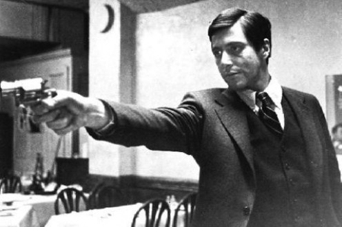 Young Al Pacino avenging his father's murder
