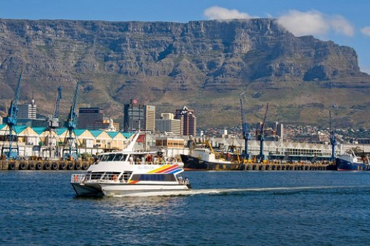 Robben Island Ferry with Majestic Table Mountain in the background.