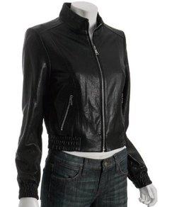 Glazed Black Leather Jacket from trendmill.com