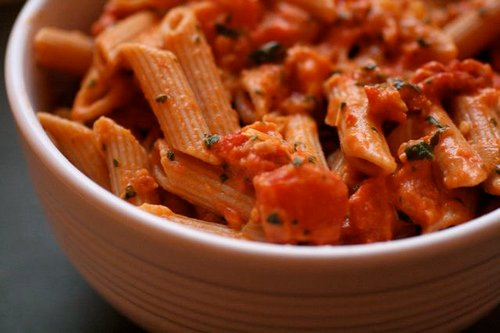 This tasty looking photograph from the Flickr user thebittenword shows what your pasta will look like after you follow these instructions that outline how to make cheap pasta sauce.