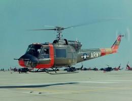 Huey Uh-1A in Flight Image : Wikimedia Commons - Public Domain