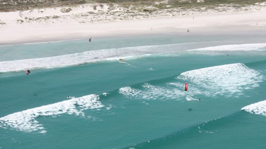 Kite Surfers - Bloubergstrand