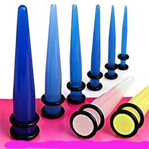 Typical ear tapers in various sizes.