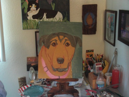 Here is the final painting of Buster.