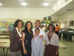 Auntie, Mom, Uncle, Brandon, Grandmother