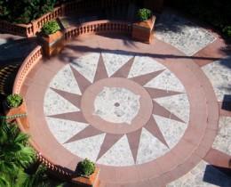 Durable cast stone tile