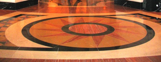 Cast, color, stain and polish concrete? or set tile?
