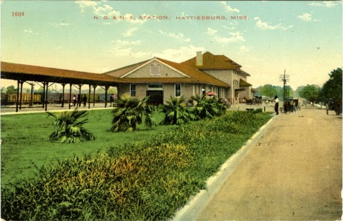 Local Train Depot in the 1900s (photos public domain).