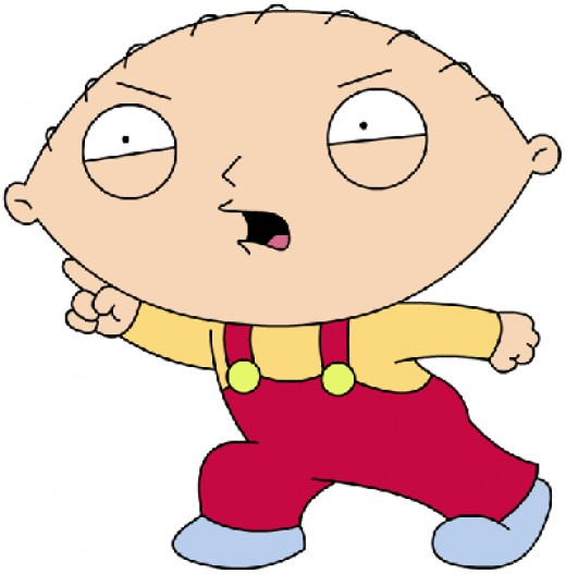 Gender Challenged Stewie plots to rule the world!