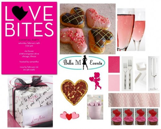 BACHELORETTE PARTY THEME DECORATIONS DISPLAY. VALENTINE'S DAY PARTY AND JUST