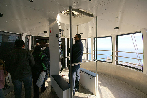 Inside a Cable Car