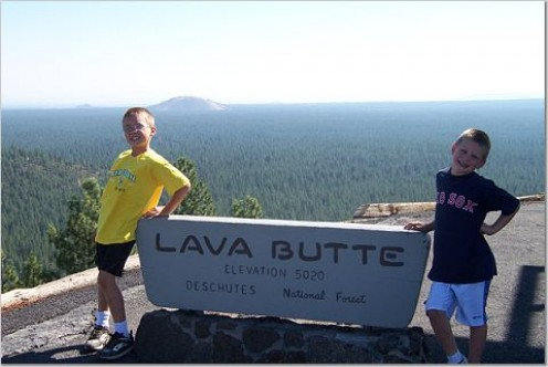 The top of Lava Butte, near Bend and Sunriver
