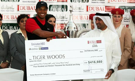 Maybe Tiger can bail out Dubai as well as his club swingin' wife?